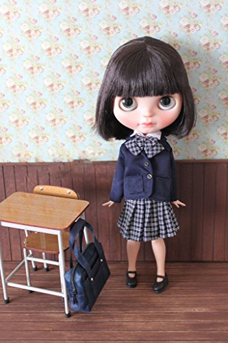 (ドーリア)Dollia ブライス 1/6ドール用 アウトフィット 学生 制服 ブレザー ネオブライス ドール 人形 (ネイビー)