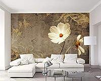 Lcsyp カスタム壁紙壁画手描きヴィンテージ赤い花の壁紙家の装飾リビングルームタペティ3d壁紙-300X210CM
