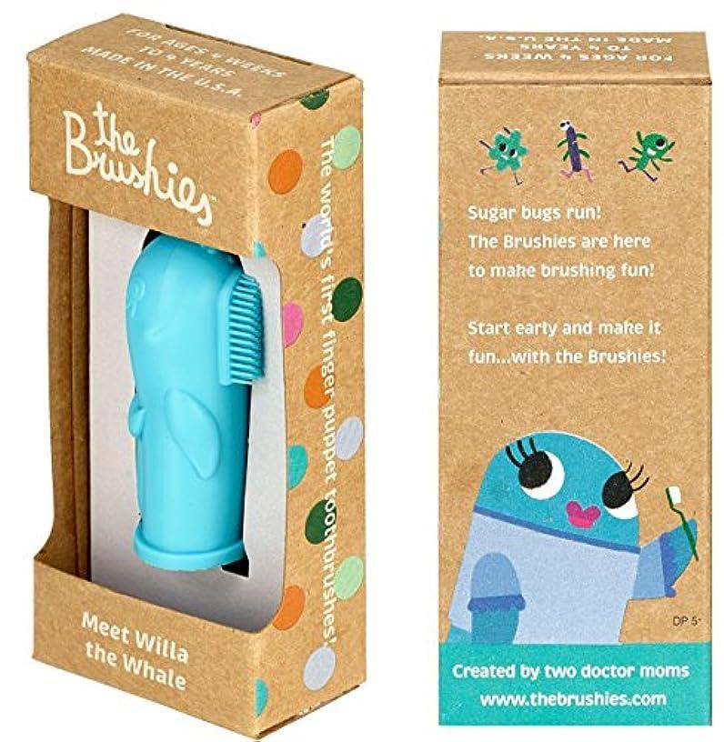 青写真オーナメント広告主ベビー用歯ブラシ。アメリカ製。ウィラザクジラ!