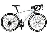 SCHNEIZER(シュナイザー) 自転車 R101 ブレーキとシフターが一体になったSHIMANOデュアルコントロールSTIレバー14速(ホワイト,700C(完成車))
