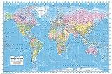 ヨーロッパから見た 世界地図  World Map ポスター ( 英語表記) Bタイプ