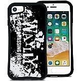 WAYLLY(ウェイリー) iPhone8 ケース iPhone7ケース iPhone6sケース iPhone6ケース くっつくケース 着せ替え 耐衝撃 米軍MIL規格 [ストリート ペイント] MK