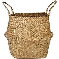 折り畳み花のバスケット手織りバスケットランドリーバスケット多機能