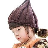 LOTUS LIFE(ロータスライフ) かわいすぎる とんがり ニット帽 キッズ こども 男女兼用 子供 帽子 (ブラウン)