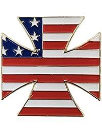 A yupha Warzone Iron Crossラペルピン – Raybeez NYHCアメリカ国旗Skinhead Hardcore