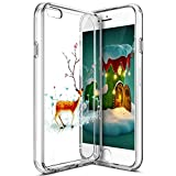 Best 6SのためのiPhone 6友人のためのケース - iPhone 6sケース、iPhone 66sクリスマスケース、phezenクリスマス鹿サンタクロースパターン超薄型ソフトTPUバンパーケース、クリスタルクリアソフトシリコンバックカバーfor iPhone 6/ iPhone 6s Review