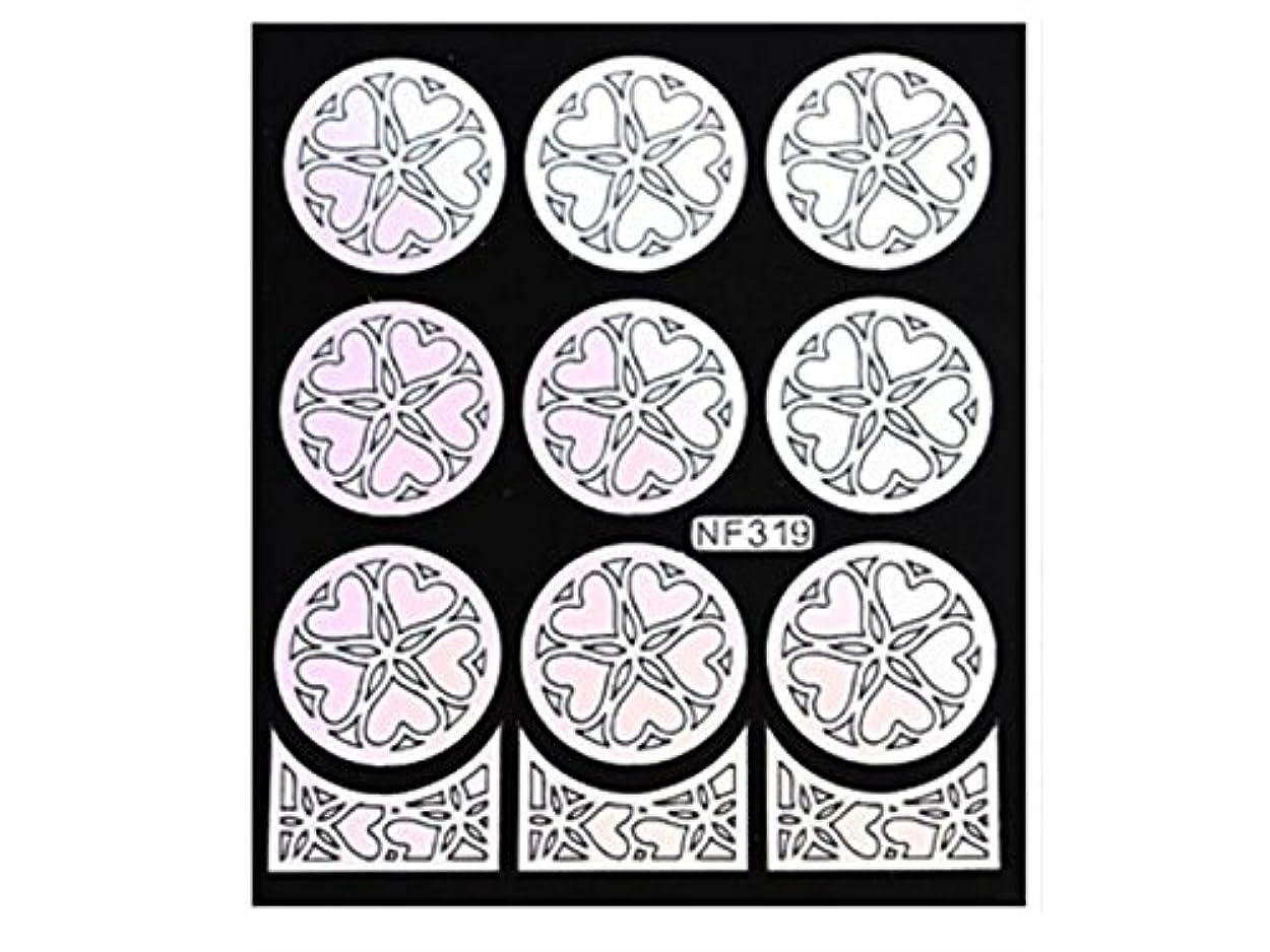 強います分離ライトニングOsize 女性のネイルステッカーネイルアートプレートをスタンピングネイルポリッシュマニキュア印刷テンプレートDIYの装飾(シルバー)