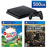 PlayStation 4 + New みんなのGOLF + Days Gone セット (ジェット・ブラック) (CUH-2200AB01)【特典】オリジナルカスタムテーマ(配信)