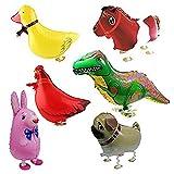 Amazon.co.jpバルーン,SODIAL(R) 6xウォーキング動物バルーン 誕生日パーティーの装飾 子供のギフト ウサギ、恐竜、馬、アヒル、鶏、ペキニーズを含めて