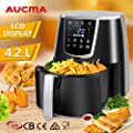 AUCMA Automatic Air Fryer 4.2L 1350 Watts LCD Healthy Cooker Oil Free Rapid Deep Cooker