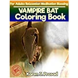 Vampire Bat Coloring Book for Adults Relaxation Meditation Blessing: Sketches Coloring Book Grayscale Images