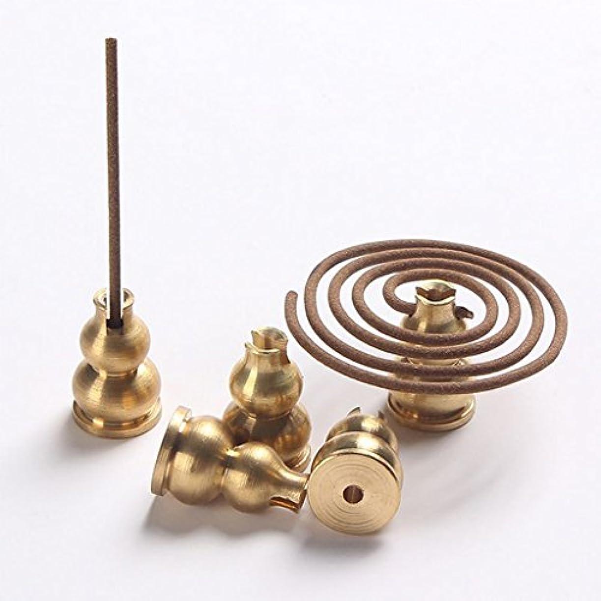 染料めまいが証人FutuHome 3mm真鍮のひょうたんバーナーホルダーキャッチャーコイルの棒の香