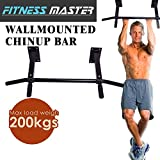 Wall Mounted Chin Up Pull Up Bar Trainer Power Training Gymnastic Suspension