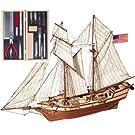 帆船模型キットアルバトロス (木製模型ツールセット、60分の帆船模型製作入門DVD及び和訳付き)