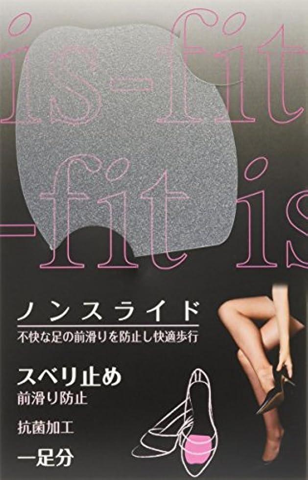 ピアノを弾くガイドライン辞任is-fit(イズフィット)  ノンスライド スベリ止め シルバー 1足分