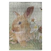 nicokee夏Bunny Strawberriesジグソーパズル–120Piece知的ゲームパズルの大人と子供