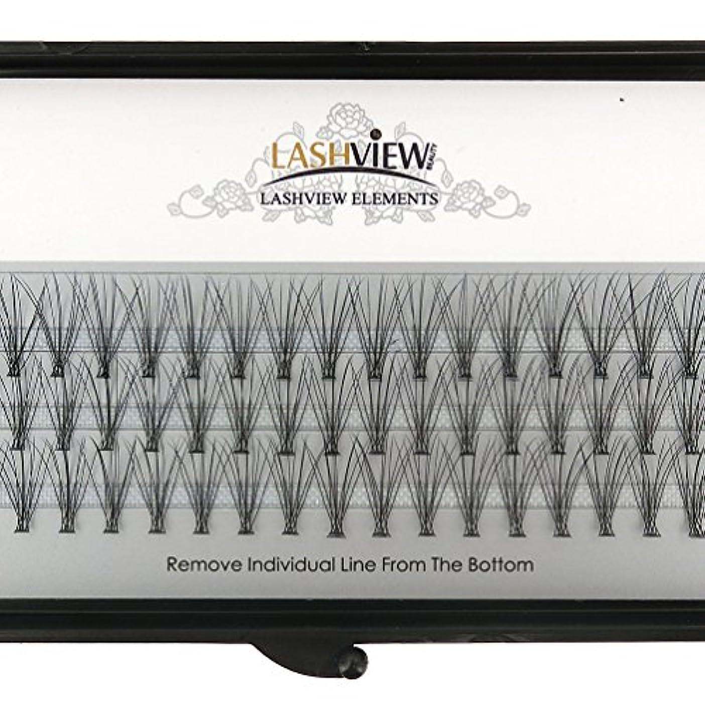 LASHVIEW 高品質まつげエクステフレア セルフ用 超極細素材 太さ0.07mm 12mm Cカール マツエク10本束