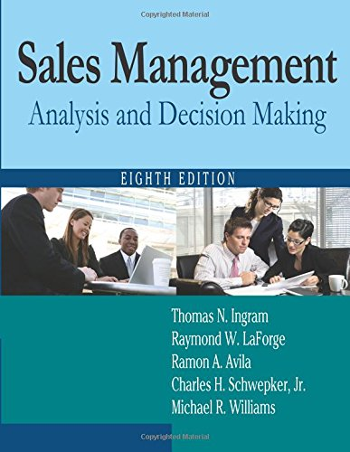 Download Sales Management: Analysis and Decision Making 0765626403