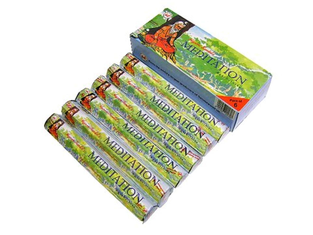 飼料カヌー健全KARNATAKA SOAPS(カルナタカ ソープ) メディテーション香 スティック MEDITATION 6箱セット