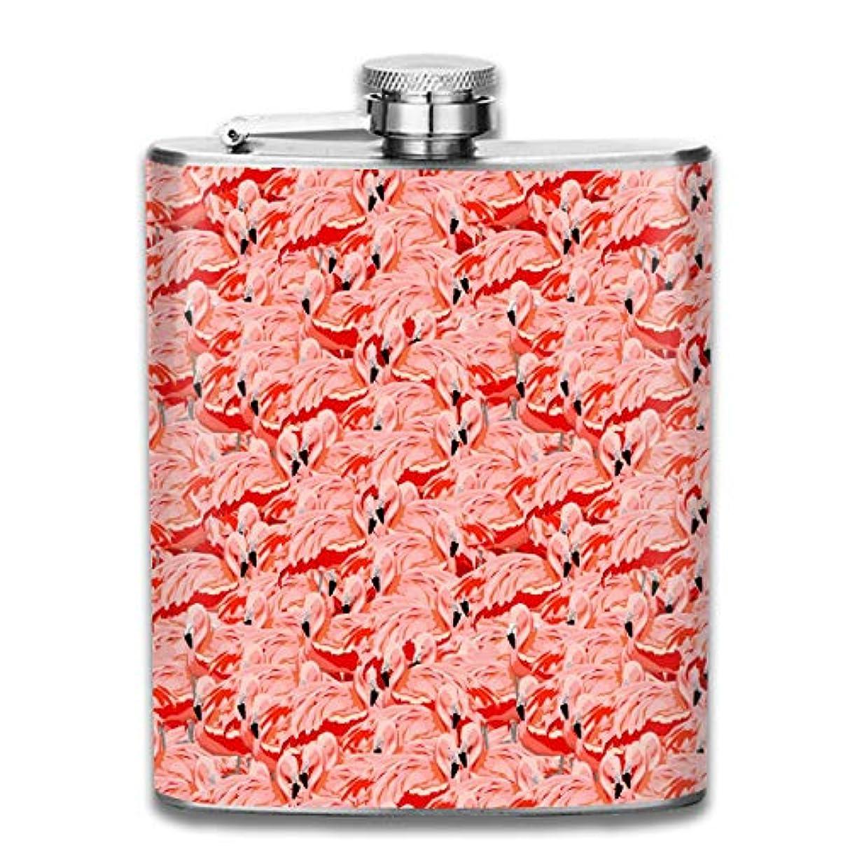タワー発言する重力フラミンゴ フラスコ スキットル ヒップフラスコ 7オンス 206ml 高品質ステンレス製 ウイスキー アルコール 清酒 携帯 ボトル