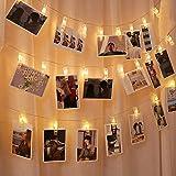 写真飾りライト LED ストリングスライト 3M 30LED 写真クリップ DIY壁飾り LEDイルミネーションライト ピクチャーフレーム ジュエリーライト ワイヤーライト クリスマス/新年/結婚式/誕生日/祝日/パーティー 写真飾りなどに適用 ウォ