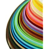 IMISNO Paper Quilling Strips set 1040 Strips 26 Colors (3/5/7/10mmx38cmPack of 4 Sets)