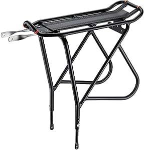 Ibera(イベラ)PakRak自転車用ツーリングキャリア プラス +トップとサイドへのより重い荷物向けにIB-RA15フレーム搭載、高さ調節機能、フェンダーボード、26インチ~29インチフレームに