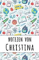 Notizen von Christina: Liniertes Notizbuch fuer deinen personalisierten Vornamen