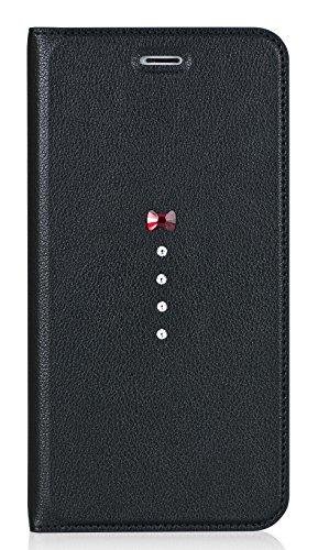 iPhone7 Plus ケース 手帳型 本革 スワロフスキ...