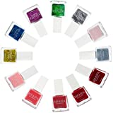 (12Pack Nail Polish) - Aifaifa 12-pc Trendy Peelable Nail Polish Full Size Set, Pink, Glitter, Metallic, Spring Colours
