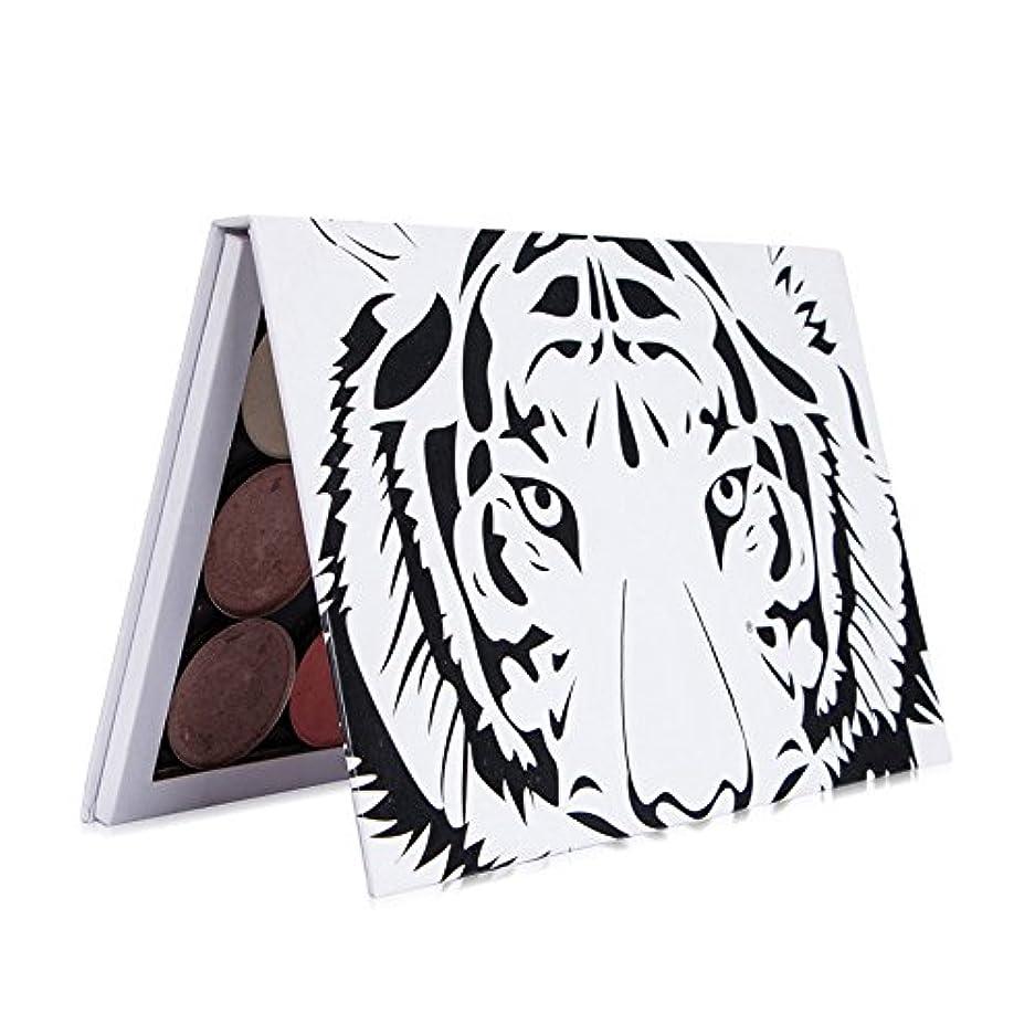 趣味盆布空の磁気パレット化粧パレットパッドタイガーヘッド大パターンDIYパレット
