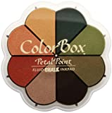 カラー ボックス流体チョーク花弁ポイント オプション印肉 8 色秋パステル