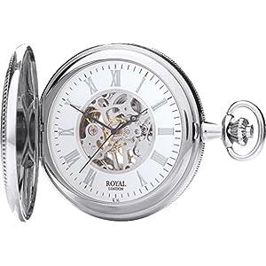 [ロイヤルロンドン]ROYAL LONDON 懐中時計 ポケットウォッチ ダブルハンターケース 手巻き 90029-01 【正規輸入品】