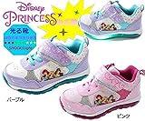 【光る靴】【ディズニー】【プリンセス】靴 女の子 ピカピカ光る マジック 6998 (19cm, パープル)