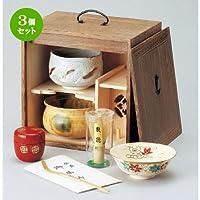 3個セット 色紙箱揃(焼桐)[ 255 x 175 x 255mm ]【 茶道具 】【 茶道 お土産 和食器 セット 】