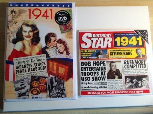 1941 Birthday Gifts Set - 1941 DVD Film , 1941 Chart Hits CD and 1941 Birthday Card