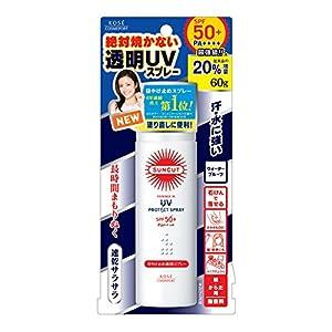 KOSE コーセー サンカット 日焼け止め 透明 スプレー 無香料 60g SPF50+ PA++++