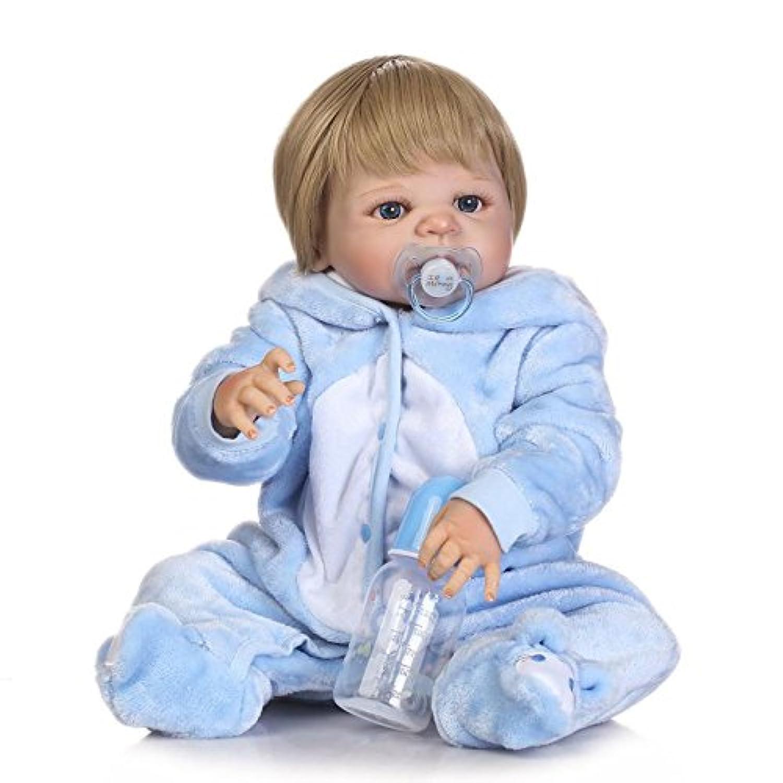 NPK collection 23インチ57 cmフルボディシリコンRealistic Lifelike人形Rebornベビー人形ソフトビニール新生児Fake Babies磁気口withダミーXmasギフト