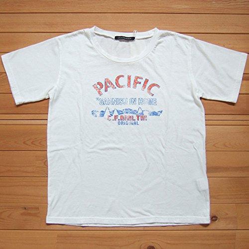 PAGEBOY ページボーイ プリントTシャツ ホワイト Tシャツ PACIFIC プリントT プルオーバー 半袖 カットソー クルーネック ロゴ