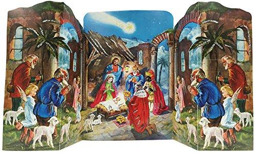 ドイツ製 アドベントカレンダー 折りたたみ式ご降誕(1156...