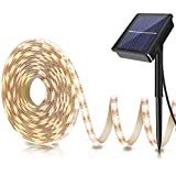 LOGUIDE Outdoor Solar Strip Lights-Cuttable LED Strips Light -Solar Powered 10 ft/3M SMD2835 180 LED-Flexible Waterproof Rope