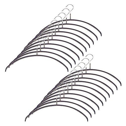 すべり落ちない MAWAハンガー カットソー・アンサンブル用 レディースライン 20本セット ブラックを上質な...
