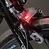 Forfar 1個 ミニ自転車テール警告 LEDブレーキライト安全ライトアクセサリー ブレーキ用C / Vブレーキディスク用