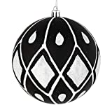 Best Vickermanクリスマスツリー - Vickerman 528624-4インチ ブラック マット グリッター ダイヤモンド ボール クリスマスツリーオーナメント Review