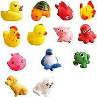 (トイホーム)Toy home 赤ちゃんのお風呂用おもちゃ 動物 13個セット