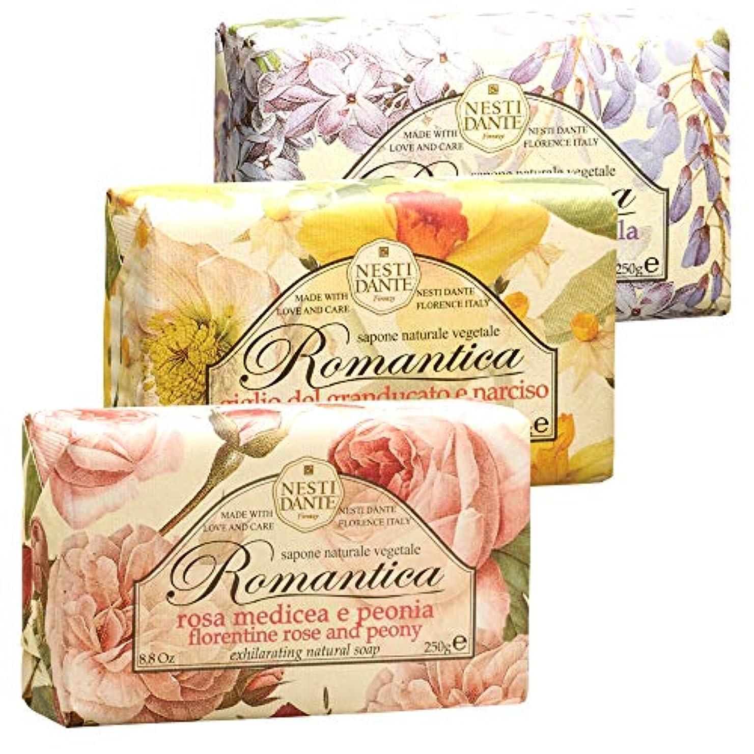 見つける巻き取りマニフェストイタリアお土産 ネスティ ロマンティカソープ 3種セット