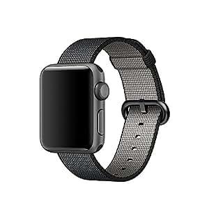 XMDirect ウーブンナイロン スポーツ ベルト 全機種対応 for Apple Watch Series 1 / Series 2 / Nike+ 【42mm、ブラック】