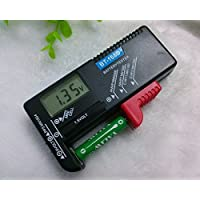 LCD液晶画面 デジタル バッテリーチェッカー バッテリーテスター 電池残量計 電池チェッカー 1.5V/9V対応 ゆうパケット限定 ◇ISM-BT-168D