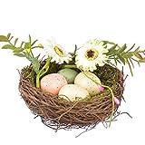Vosarea 装飾的な鳥の巣人工模擬鳥の巣の家の園芸の装飾