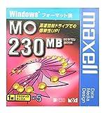 Windowsフォーマット済み230MB MOメディア 5枚パック maxell MA-M230.WIN.B1P5